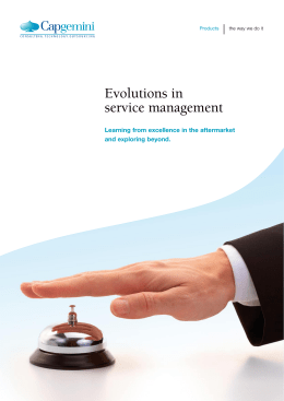 Evolutions in service management