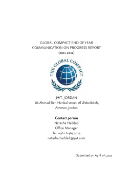 global compact progress report
