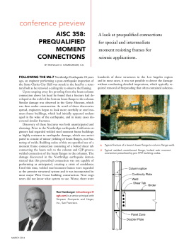 Prequalified Moment Connections - Modern Steel Construction