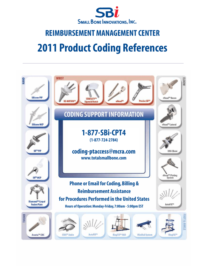 2011 Product Coding References