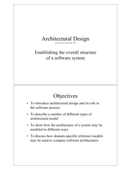 Architectural Design Objectives