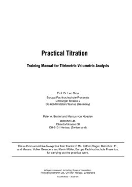 Practical Titration
