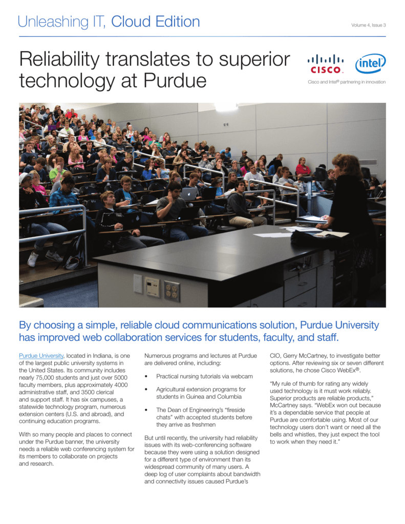 Reliability translates to superior technology at Purdue