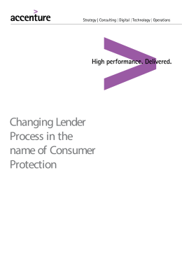 Changing Lender Process in the name of Consumer