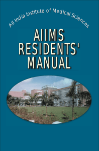 Residents' Manual