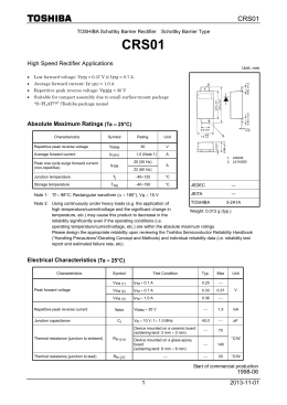 2013-11-01 1 High Speed Rectifier Applications Absolute Maximum