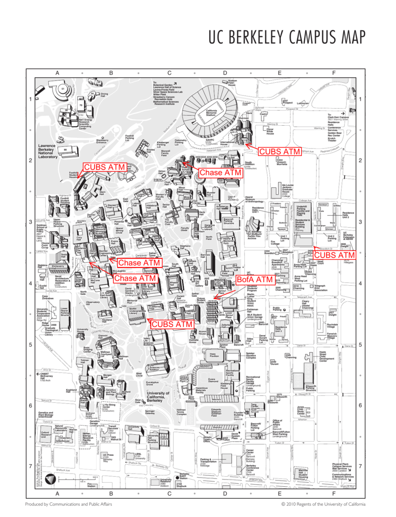 University Of California Berkeley Campus Map.Top Map Of Uc Berkeley Pictures Printable Map New