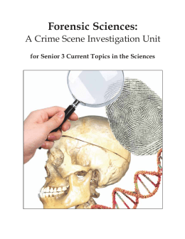 Forensic Sciences - Education and Advanced Learning