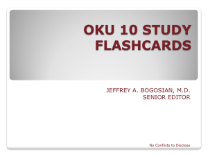 OKU 10 STUDY FLASHCARDS