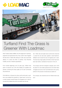 Turfland Find The Grass Is Greener With Loadmac