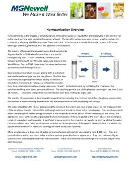Effect of Homogenizer Types and Sodium