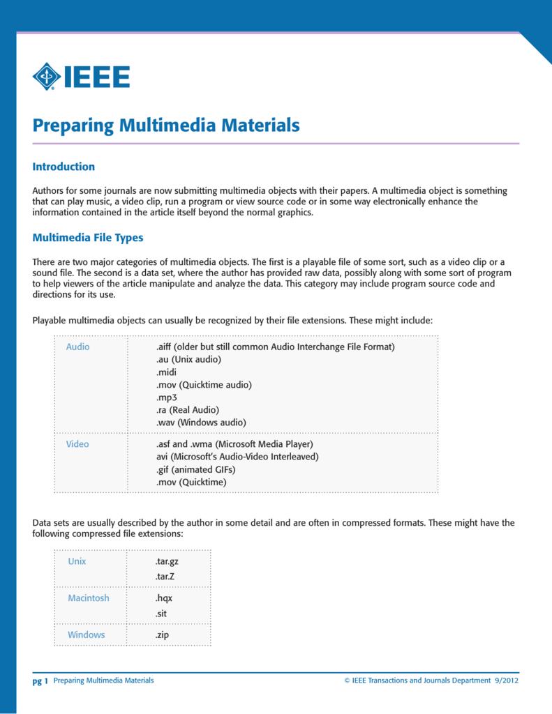 Preparing Multimedia Materials