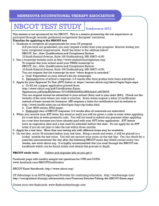 nbcot test study - Minnesota Occupational Therapy Association