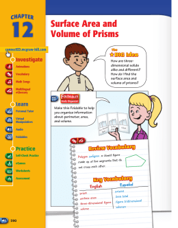 Surface Area and Volume of Prisms - Macmillan/McGraw-Hill