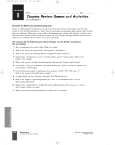 Chapter Review Games and Activities