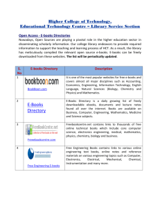 E - Books - Higher College of Technology