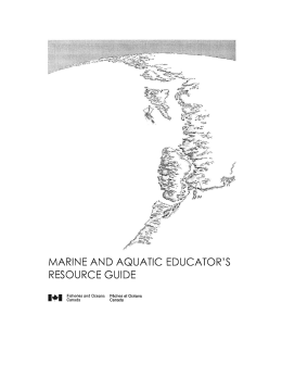 MARINE AND AQUATIC EDUCATOR'S RESOURCE GUIDE