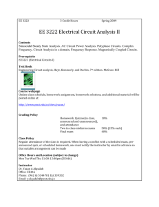 EE 3222 Electrical Circuit Analysis II