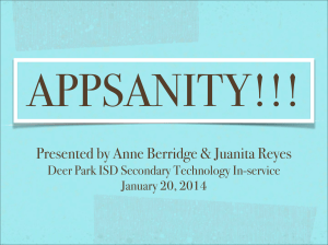 Appsanity! - Deer Park Independent School District