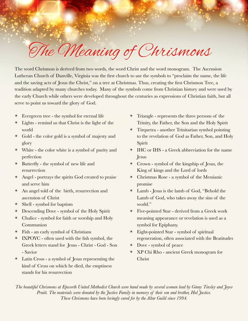 Meaning Of Chrismons