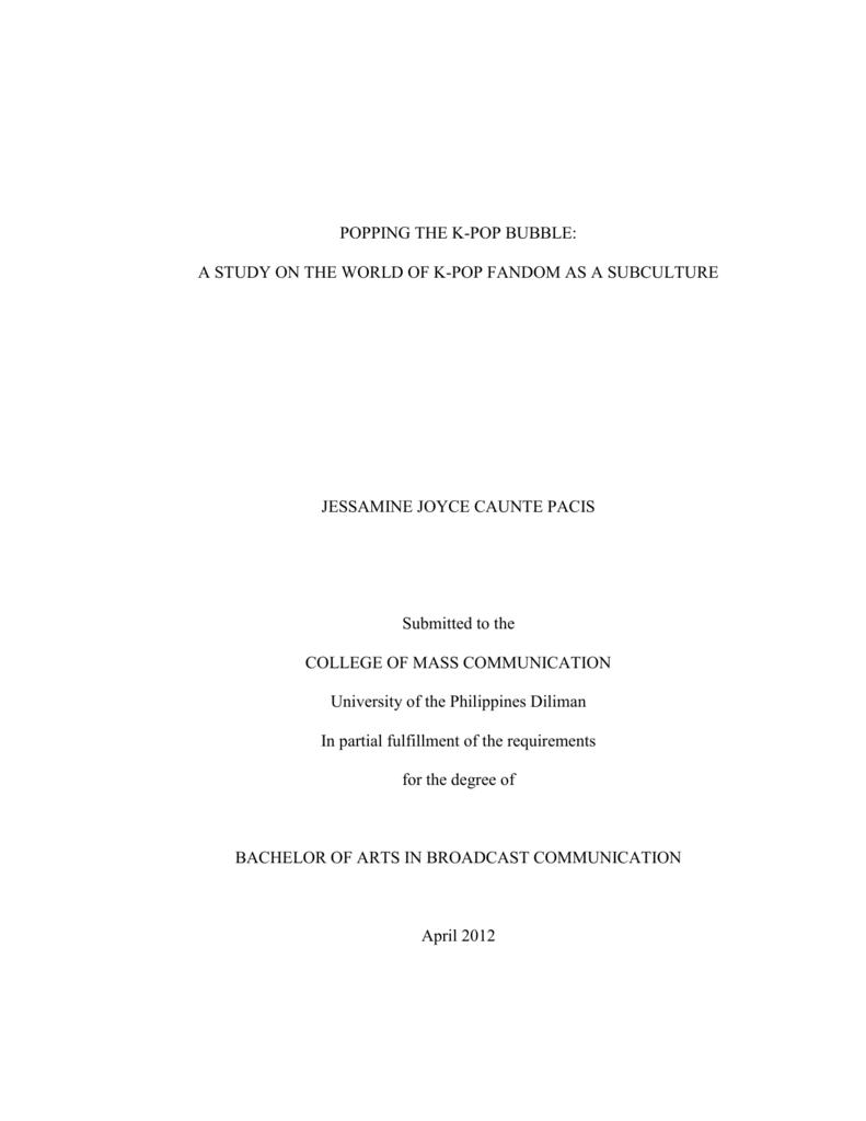 research paper tungkol sa kpop