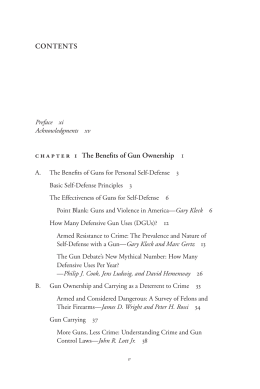 CONTENTS chapter 1 The Benefits of Gun Ownership 1