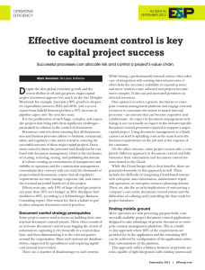 Effective document control is key to capital