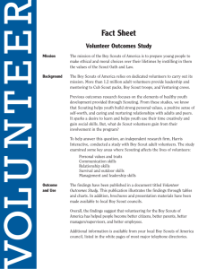 Fact Sheet - Boy Scouts of America