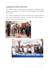Inauguration of ISTE Students' Chapter at SIET ISTE Students