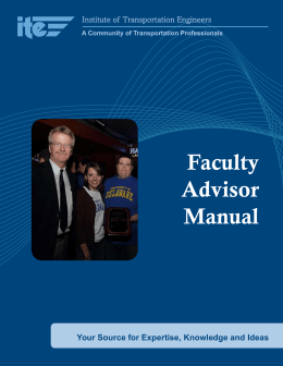 Student Chapter Faculty Advisor Manual