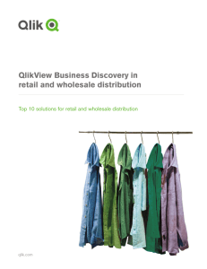 QlikView Business Discovery in retail and wholesale distribution