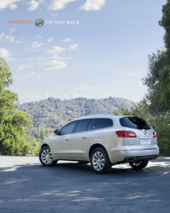 2016 Buick Enclave Catalogue - English