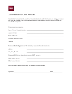 Authorization to Close Account
