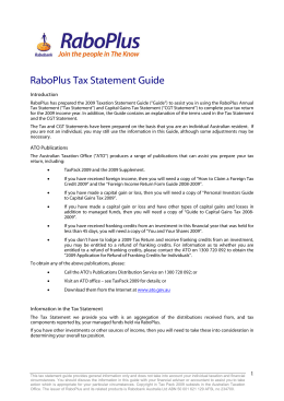 RaboPlus Tax Statement Guide