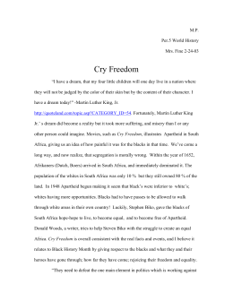 cry freedom essay on oppression