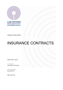 Insurance Contracts CP - the Law Reform Commission of Ireland
