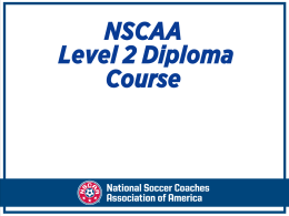 NSCAA Level 2 Diploma Course