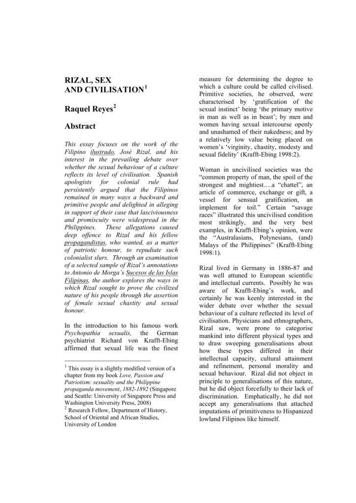 Essays on sex in primitive societies
