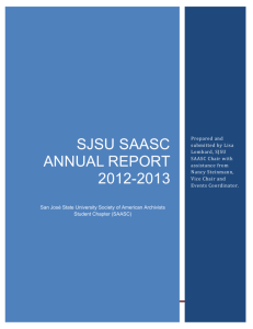 SJSU SAASC Annual report 2012-2013