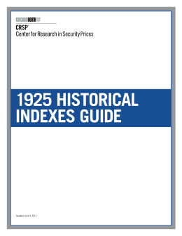 1925 historical indexes guide