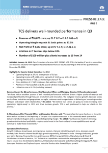 TCS delivers well-rounded performance in Q3