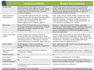 comScore X-Media Nielsen Total Audience