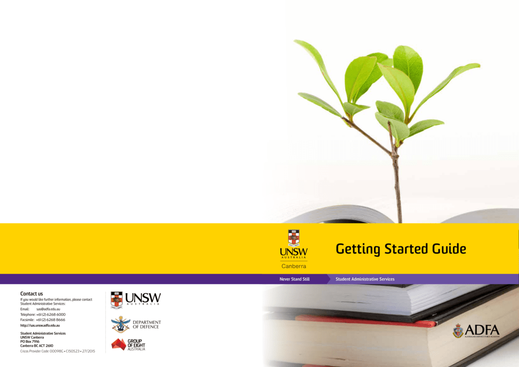 Getting Started Guide - UNSW Canberra - UNSW-ADFA
