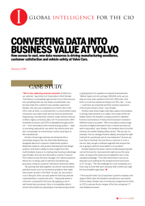 converting data into business value at volvo