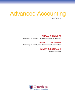 Advanced Accounting - Cambridge Business Publishers