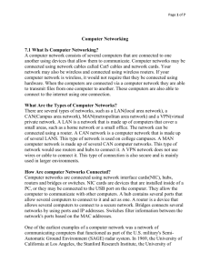 Computer Networking 7.1 What Is Computer