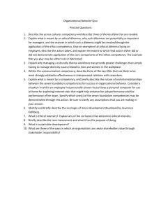 Organizational Behavior Quiz Practice Questions 1. Describe the
