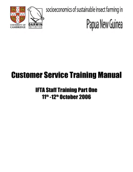 Customer Service Training Manual