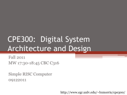 CPE300: Digital System Architecture and Design