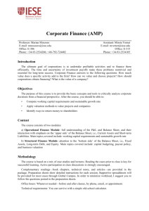 Corporate Finance (AMP)